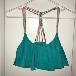 Victoria's Secret PINK Turquoise Bikini Top